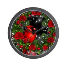 SPARKLING CARDINAL Wall Clock