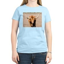 Longhorn Bull Women's Pink T-Shirt