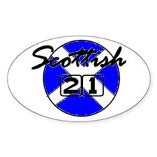 Proud Scottish Oval Decal
