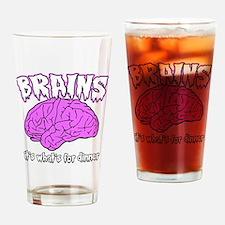 brains.gif Drinking Glass