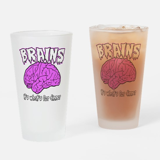 brains.gif Drinking Glass
