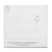 fightlikeacherubonblack Tile Coaster