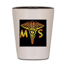 MortSciCircle3 Shot Glass