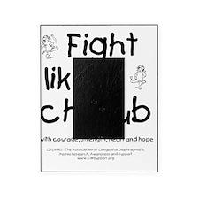 fightlikeacherubonwhite Picture Frame