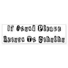 Return to Cthulhu Bumper Bumper Sticker