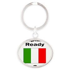 rapture_ready Oval Keychain