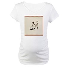 Heart Jewel Two Siamese Cats Shirt