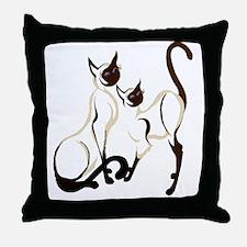 Two Artsy Siamese reworking 2011 Tran Throw Pillow