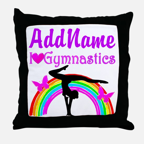 TALENTED GYMNAST Throw Pillow