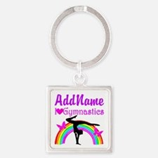 TALENTED GYMNAST Square Keychain