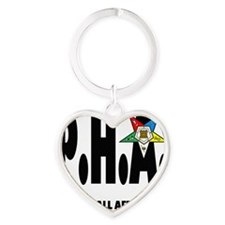 PHA-w-star2 Heart Keychain