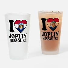 Joplin Flag Drinking Glass