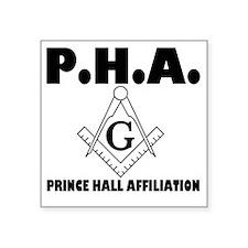 "PHA-w-mason Square Sticker 3"" x 3"""