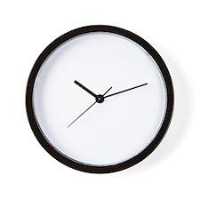 dachshund_white Wall Clock