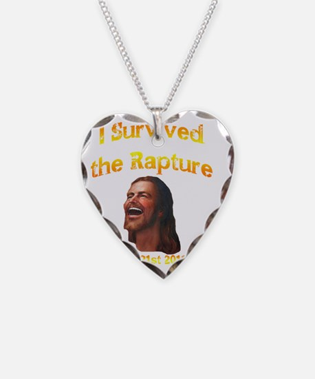jesus smiles survived rapture Necklace Heart Charm