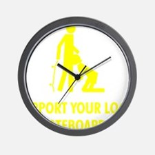support_yellow Wall Clock