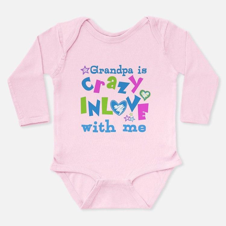 Grandpa Loves Me Long Sleeve Infant Bodysuit
