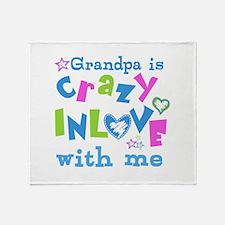 Grandpa Loves Me Throw Blanket