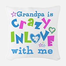 Grandpa Loves Me Woven Throw Pillow