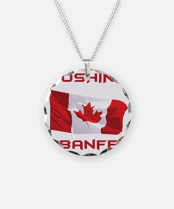 boshing in banff Necklace
