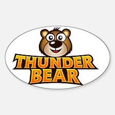 thunder_bear_shop Sticker (Oval)