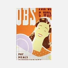 Jobs for Women Rectangle Magnet
