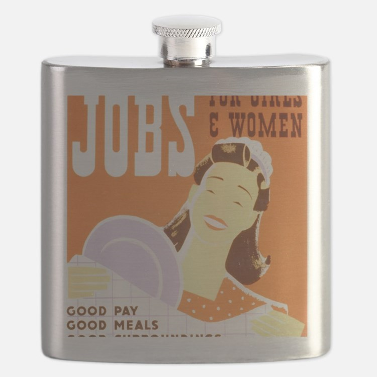 Jobs for Women Flask