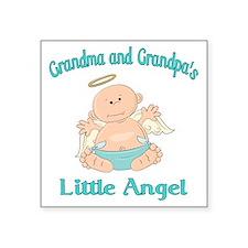 "gram grap angel Square Sticker 3"" x 3"""
