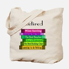 Retired book Stack 2 Tote Bag