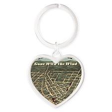 Atlanta_12x9 Heart Keychain