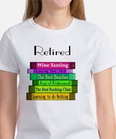 Retired book Stack 2 Tee
