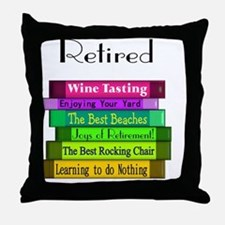 Retired book Stack 2 Throw Pillow