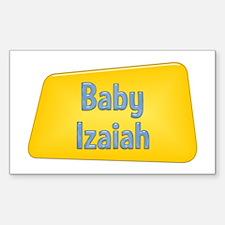 Baby Izaiah Rectangle Decal