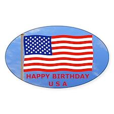 July 4 Sticker, U.S., American Flag Decal