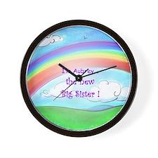 aubrey rainbow Wall Clock