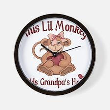 grandpa heart Wall Clock