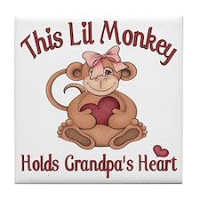 grandpa heart Tile Coaster