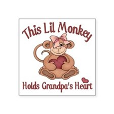 "grandpa heart Square Sticker 3"" x 3"""