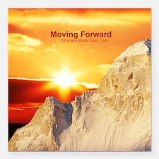 "moving forward Square Car Magnet 3"" x 3"""