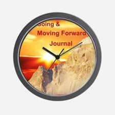 keep going and moving forward Wall Clock