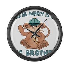 big brother monkey2 Large Wall Clock