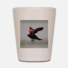 aEagles Redwings 201 tile Shot Glass