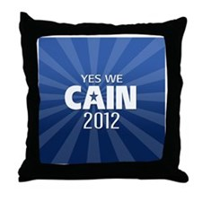 cain2012_04_button2yes Throw Pillow