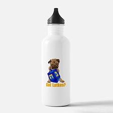 Got Latkes? Pug with Dreidel Water Bottle