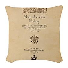 Much_Ado_Quarto-poster-Ornamen Woven Throw Pillow