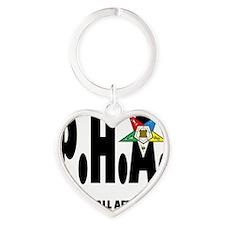 PHA-w-star2-plussize Heart Keychain