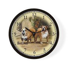 Bulldog Clock Wall Clock