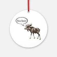 Nice-Rack-Moose Round Ornament