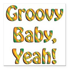 """groovy baby Square Car Magnet 3"""" x 3"""""""