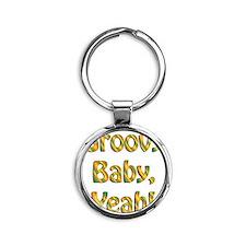 groovy baby Round Keychain